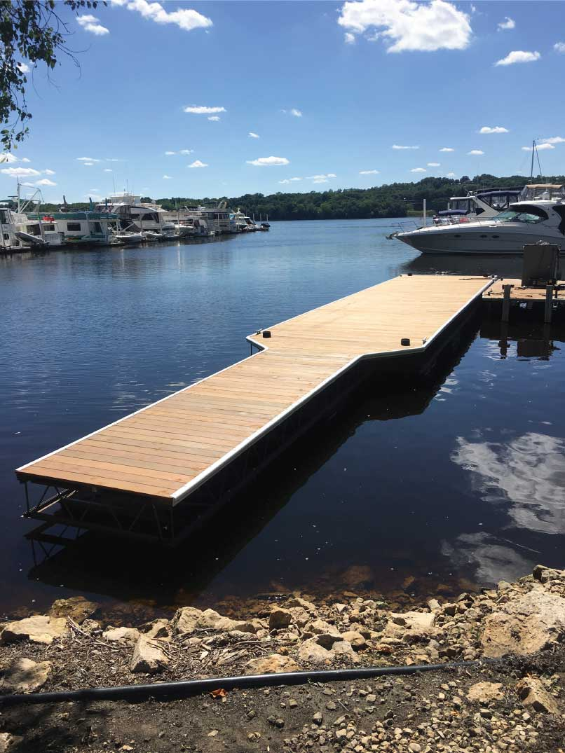 Dock Built by Marina St. Croix